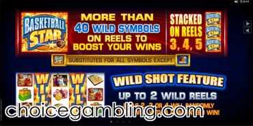 Play the Basketball Star slot at Casino Action