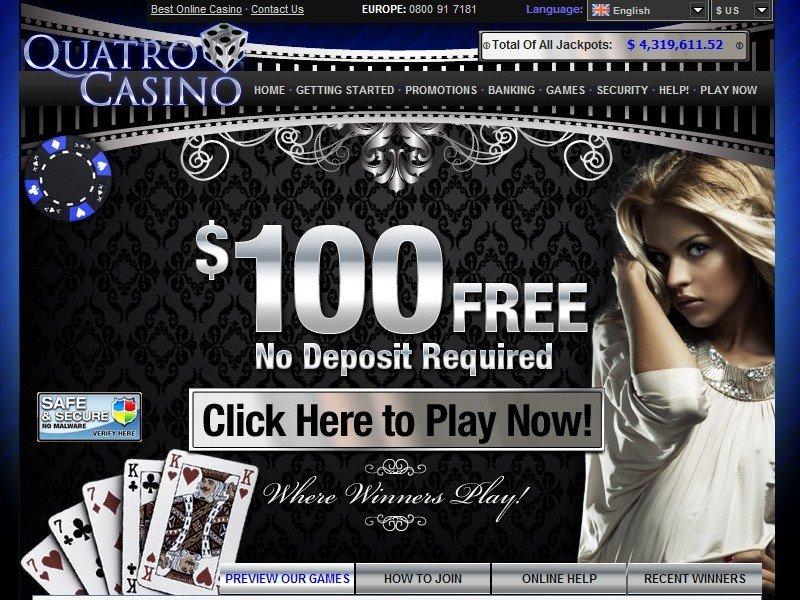 Quatro No Deposit Casino Bonus, Codes and Reviews