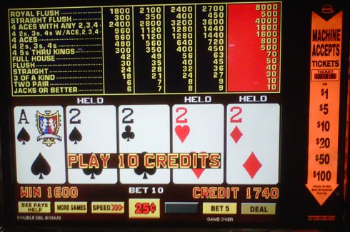 Jackpot Deuces is a video poker game featuring wild deuces, and is