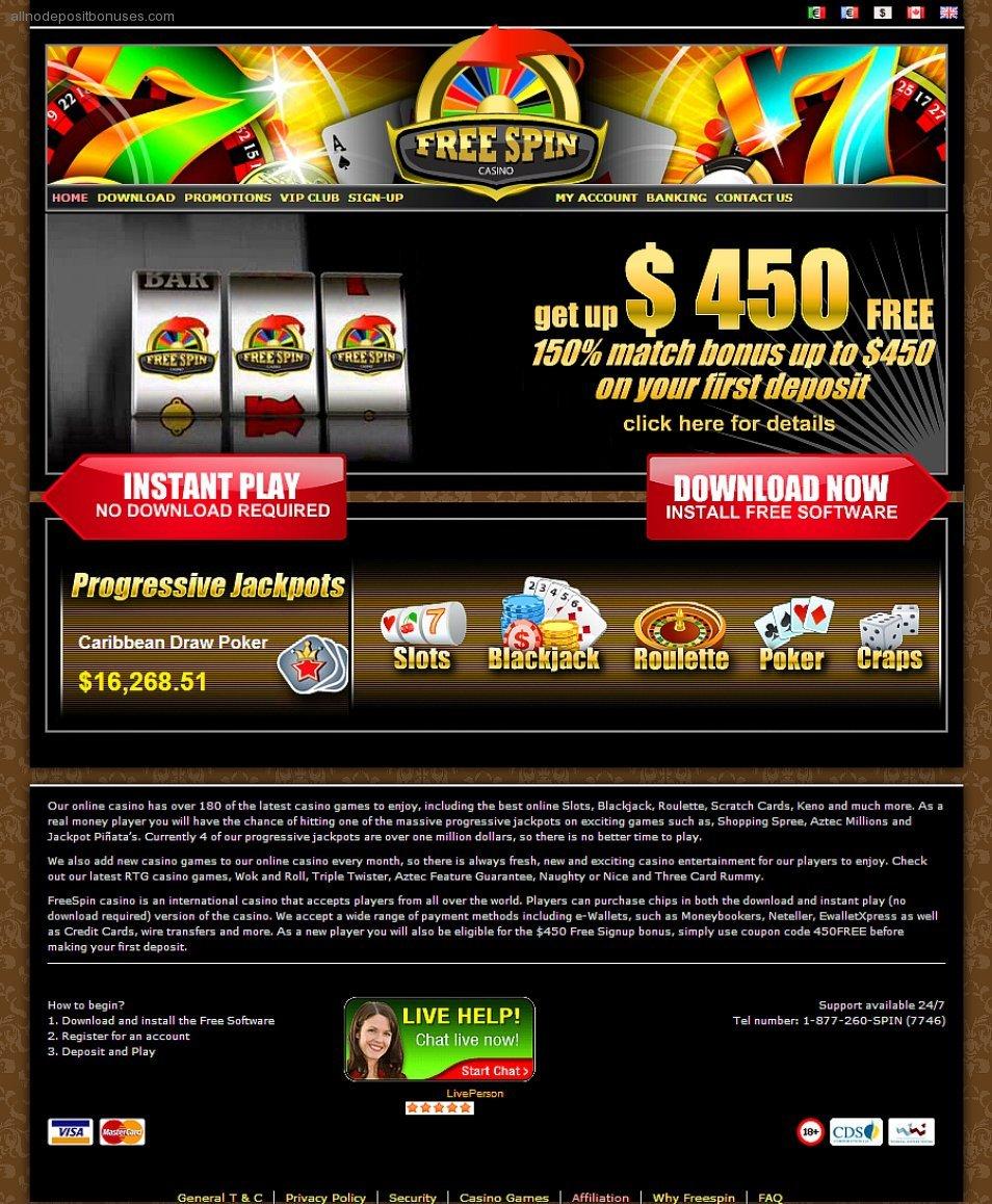 Casino No Deposit Free Spin