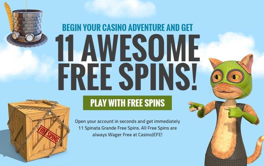 Casino Jefe - 11 Free Spins No Deposit - New Casino - SnazzySlots.com