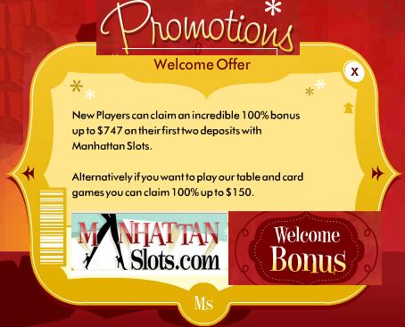 Manhattan Casino No Deposit Codes