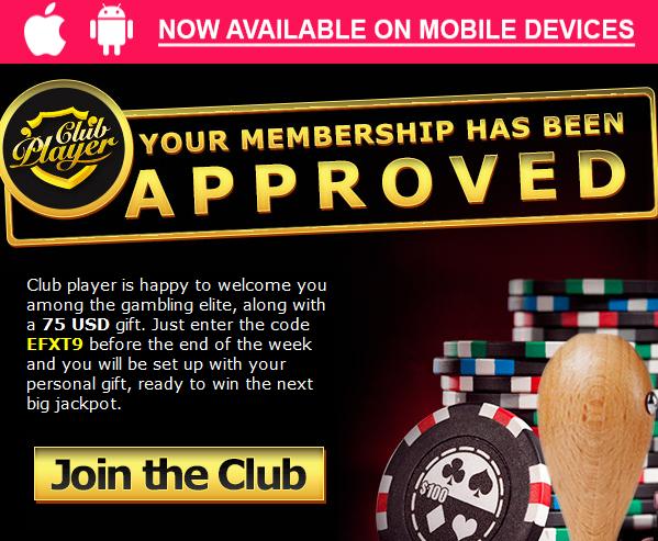 Get Free Club Player Casino 75 1 No Deposit Casino Bonus