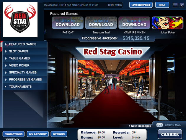 Red Stag $100 No Deposit Code