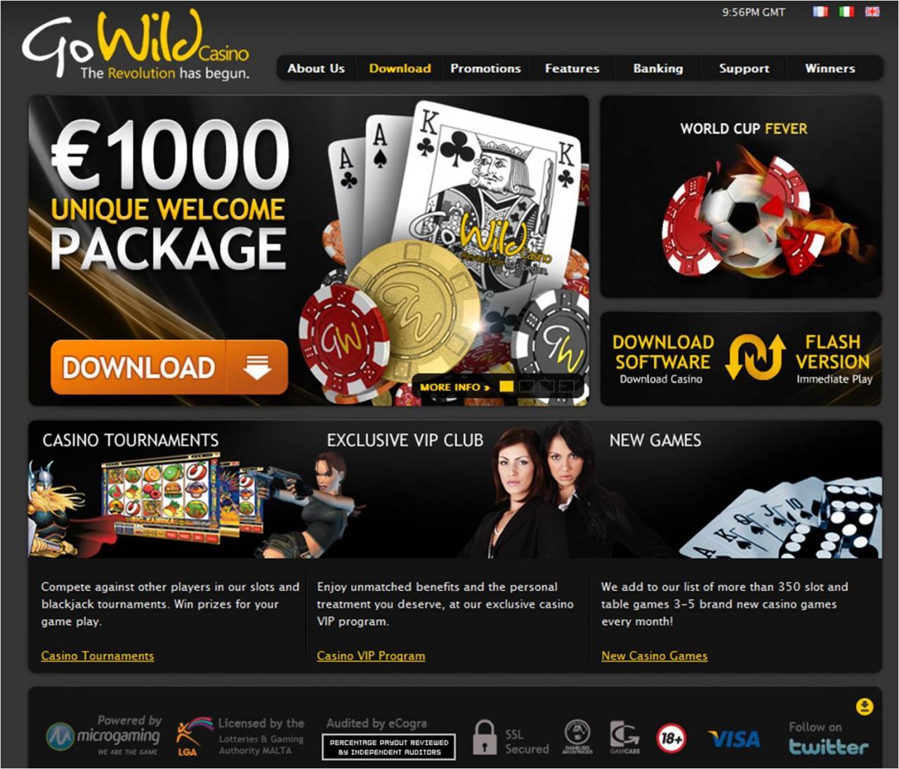 Go Wild Mobile Casino No Deposit
