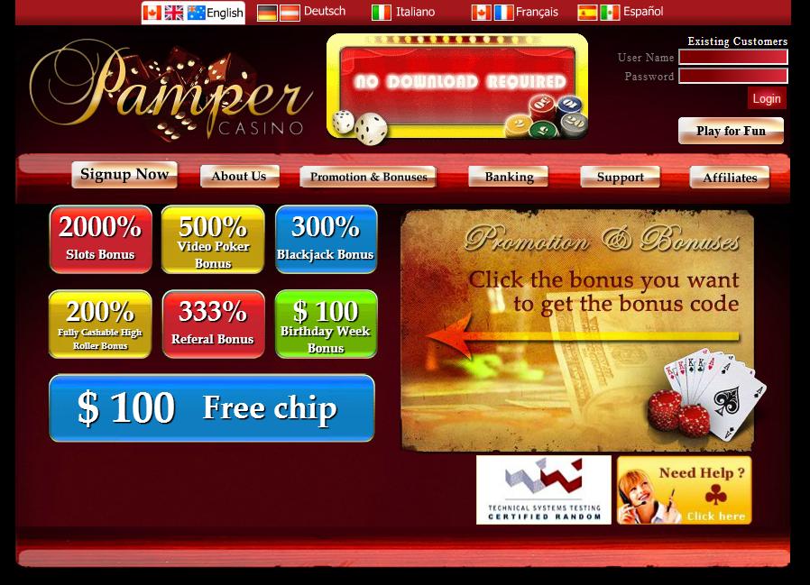 Casino Free Chips No Deposit Required